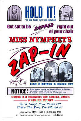 1970 MISS NYMPHET'S ZAP-IN VINTAGE ADULT FILM MOVIE POSTER PRINT 54x36 BIG