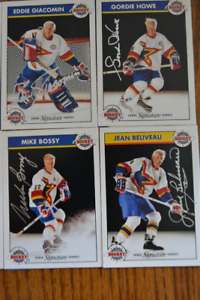 RARE, LIMITED ADDITION AUTOGRAPHED MASTERS OF HOCKEY CARDS!!