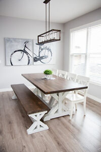 Custom Built Rustic Dining Tables & Furniture - Solid Wood