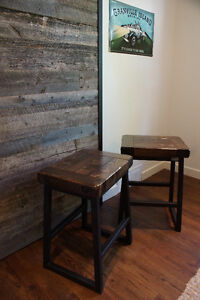 ON SALE! Wood & Iron Bar Stool (4 in stock) By LIKEN Woodworks
