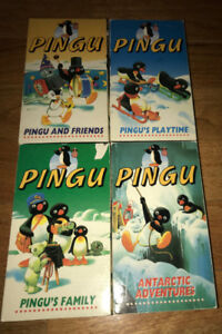 Pingu the Penguin RARE!!! 4 Cassette VHS Tape Set 25 Episodes