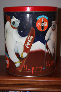 Large Coca-Cola Polar Bear tin