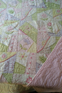 Pottery barn kids girls' quilt and pillow sham