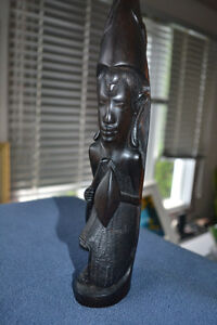 Vintage ebony carving 12 inches tall