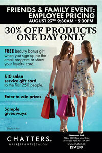 Friends and Family Event - Sherwood Park Mall Alberta