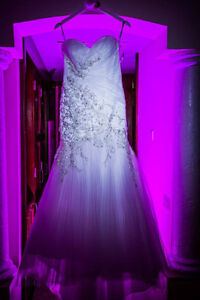Wedding dress for sale white size 6-8