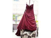 Veromia Sonsie 9001 claret wedding dress 16-24size