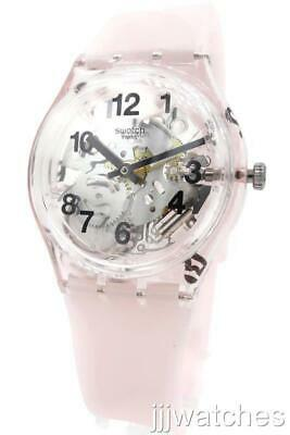 New Swatch Swiss Originals PINK BOARD Skeleton Silicone Watch 34mm  GP158 $75