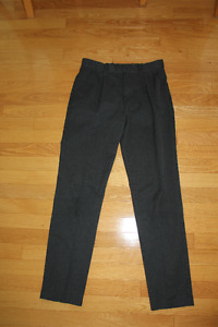 2 pairs Boys grey dress pants and a new non iron white shirt