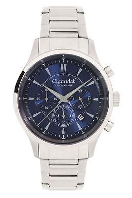 Gigandet Quarz Herren-Armbanduhr Brilliance Chronograph Silber Blau G48-004