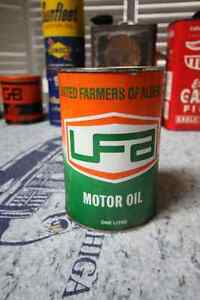UNITED FARMERS OF ALBERTA MOTOR OIL TIN CAN