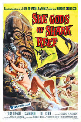 1958 SHE GODS OF SHARK REEF VINTAGE MOVIE POSTER PRINT STYLE A 54x36 BIG
