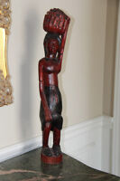 JAMAICAN HAND CARVED WOOD SCULPTURE