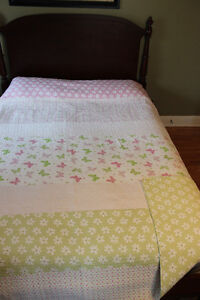 For girl's bedroom-quilt, comforter, accent pillow, 3 sheet sets