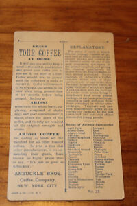 Old Arbuckle Bros. Coffee Company Advertising Cards London Ontario image 4
