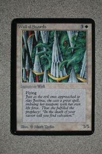 Magic the Gathering Alpha Wall of Swords