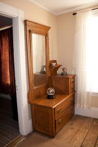 Antique Man's Vanity Oak Dresser