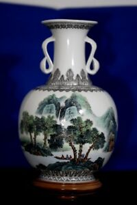 Chinese New Republic Master Artisan Hand Made Signed Vase