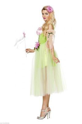 Feen Fee Elfe Tinkerbell Märchen Kostüm Kleid Elfen Damen Waldfee Blumenfee (Tinkerbell Kostüme Damen)