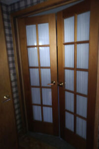 Door - 24(w) x 79.25, Natural Cedar, Indoor Double French Door