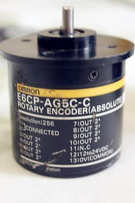Omron Absolute Rotary Encoder E6cp-ag5c-c 256pr E6cpag5cc Used Free Ship