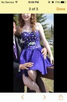 Purple grad dress