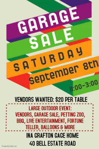 VENDORS WANTED - LARGE OUTDOOR SALE & FUN DAY