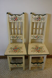 Two Handpainted Floral Child's/Doll Chairs Peterborough Peterborough Area image 1