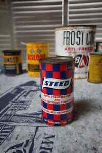 STEED AUTO TRANSMISSION & POWER STEERING FLUID TIN CAN