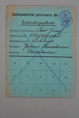 Kaiserslautern - Nahrungsmittelstelle 1914-1918