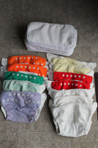 LOT: Fuzzi Bunz small reuseable cloth diapers