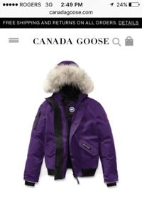 Authentic (with Bill)  Canada goose rundle bomber