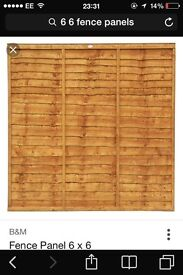 6+6 new fence panels and posts all sizes