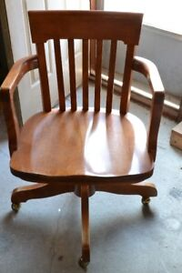 Bankers/office chair, wooden  mid 1900s