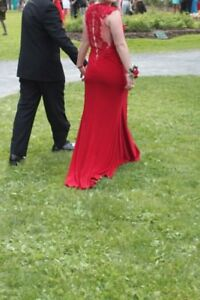 Beautiful red prom dress size 4 by Gigi - paid $750 REDUCED