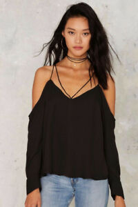 NWT Nasty Gal Bardot Cold Shoulder