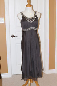 Grey Silver Beaded cocktail dress from Monsoon (UK) fits US 10 Kitchener / Waterloo Kitchener Area image 2