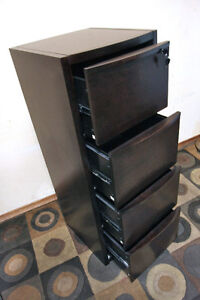 2 Wood File Cabinets, 4Drawer in Espresso w/ keys! SEE VIDEO