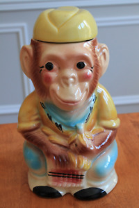Vintage Jocko the Monkey Cookie Jar