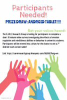 ***PARTICIPANTS NEEDED, PRIZE: Android tablet***