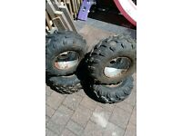 110 cc quad wheels with good set of tyres