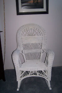 Wicker rocker and lamp $20 for both; moving must sell