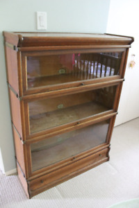 Vintage Antique Lawyers Barrister's Stacking Oak Bookcase
