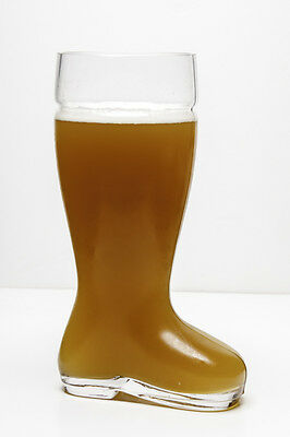 2 Liter High Quality Oktoberfest Style Glass Beer Boot - Das Boot Glass Beer Mug
