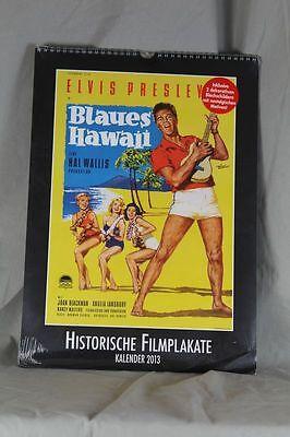 12 Historische Filmplakate Kalender von 2013 + 2 Nostalgie Blechschilder  /S193