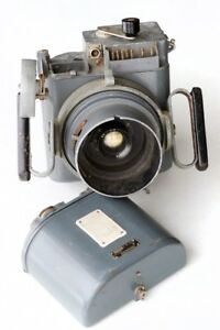 WW2 British Aerial camera with lens, grips and Magazines.