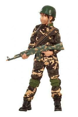 Armee Kinder Kostüme (Soldat Soldaten Ranger Rambo Armee Uniform Söldner Kinder Kostüm Tarnanzug Anzug)