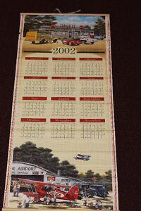 COCA COLA 2001-2002 REVERSIBLE HANGING WALL SCROLL CALENDAR