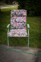 Metal Lawn Chairs and cushions