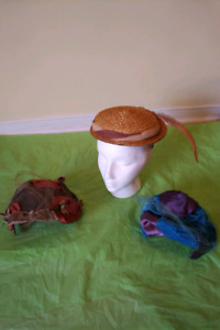 17 VINTAGE OR ANTIQUE HATS ** SEE  EACH PRICE ***